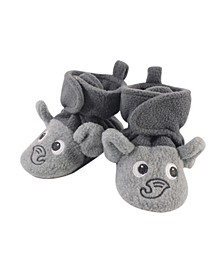 Baby Girls and Boys Elephant Cozy Fleece Booties