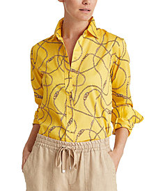 Lauren Ralph Lauren Glossy Sateen Shirt