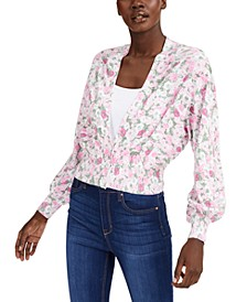 INC Printed Cardigan Sweater, Created for Macy's