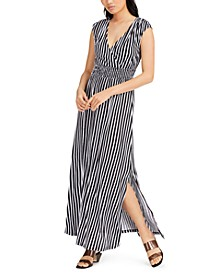 INC Striped Smocked-Waist Maxi Dress, Created for Macy's