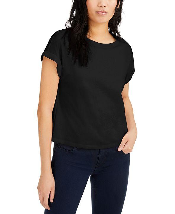 INC International Concepts INC Boxy Crewneck T-Shirt, Created for Macy's