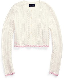 Big Girls Cropped Cotton Cardigan