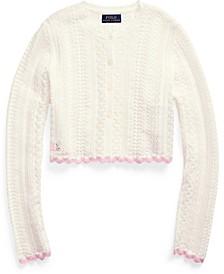 폴로 랄프로렌 걸즈 크롭 가디건 Polo Ralph Lauren Big Girls Cropped Cotton Cardigan