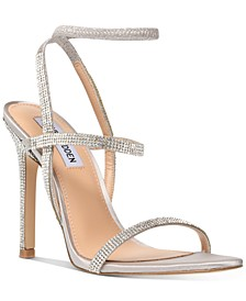 Nectur-R Rhinestone Stretch Dress Sandals