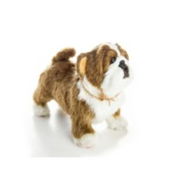 """The Queen's Treasures Officially Licensed Little House on The Prairie Bulldog """"Jack"""" Pet Companion with Jute Rope Collar"""