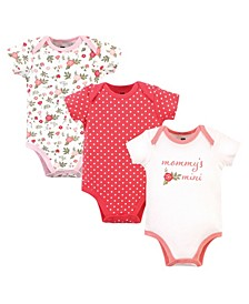 Baby Girls Mommy's Mini Bodysuits, Pack of 3