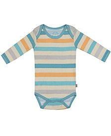 Baby Boys and Girls Bright Stripes Long Sleeve Onesie