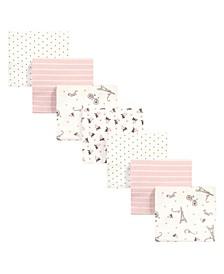 Baby Girls and Boys Paris Flannel Receiving Blankets Bundle