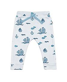 Baby Boys Sailboats Drawstring Trouser