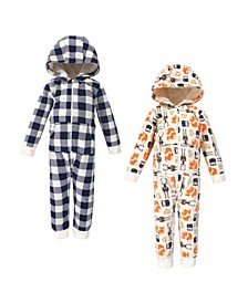 Baby Toddler Girls and Boys Forest Fleece Jumpsuits, Coveralls and Playsuits, Pack of 2