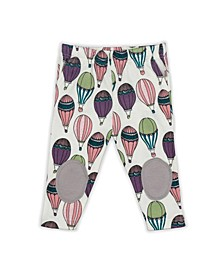 Baby Girls Hot Air Balloons Patch Trouser