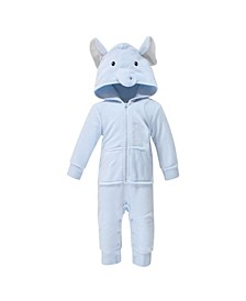 Baby Boys Elephant Fleece Jumpsuits, Coveralls and Playsuits