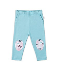 Baby Girls Butterfly Patch Trouser