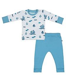 Baby Boys Sailboats Loungewear Set