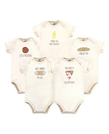 Baby Girls and Boys Pizza Bodysuits, Pack of 5