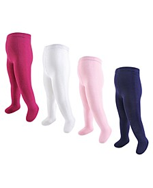 Big Girls Tights, Pack of 4