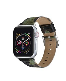 Men's and Women's Apple Camo Hair Leather Replacement Band 40mm
