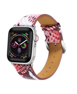 Men's and Women's Apple Pink Skinny Leather Replacement Band 40mm