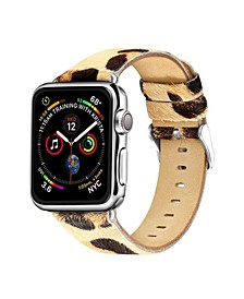 Men's and Women's Apple Leopard Colored Leather Replacement Band 40mm