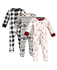 Baby Girls and Boys Winter Woodland Sleep and Play, Pack of 3