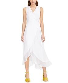 Clip-Dot Wrap Maxi Dress, Created for Macy's
