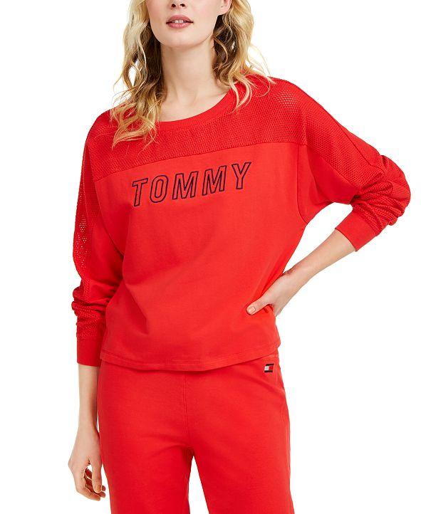Tommy Hilfiger Mesh-Yoke Sweatshirt