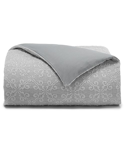 Charter Club Woven Tile Cotton 3-Pc. King Duvet Set, Created for Macy's