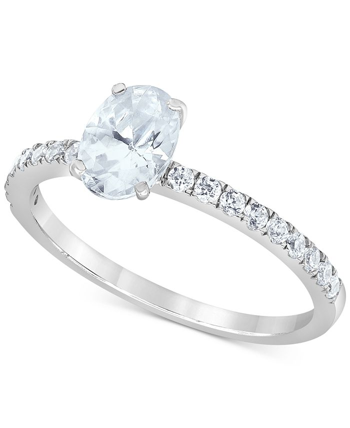 Macy's Star Signature Diamond - Certified Diamond Oval Engagement Ring (1-1/4 ct. t.w.) in 14k White Gold