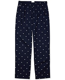 Men's Crocodile-Print Cotton Pajama Pants