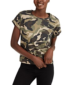 INC Boxy-Fit Printed Crewneck T-Shirt, Created for Macy's