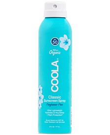 Classic Body Organic Sunscreen Spray SPF 50 - Fragrance Free, 6-oz.