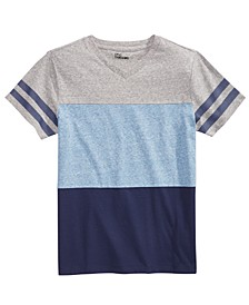 Big Boys Colorblocked Stripe V-Neck T-Shirt, Created for Macy's
