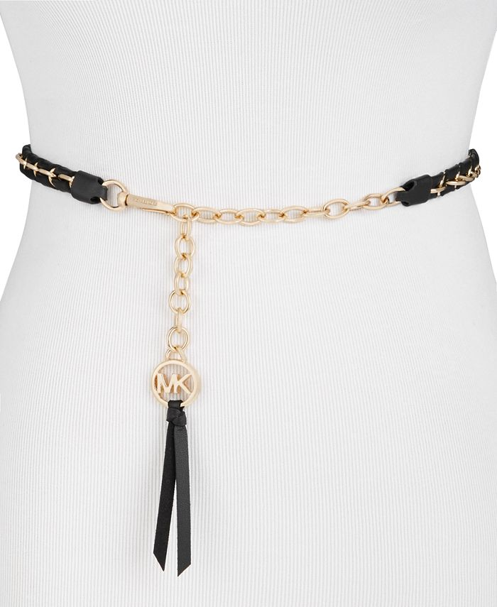 Michael Kors - Woven Leather Chain Belt