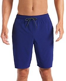 "Men's 6:1 Stripe Breaker Water-Repellent Colorblocked 9"" Swim Trunks"