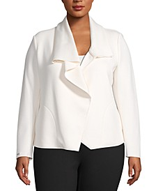 Plus Size Asymmetric Jacket