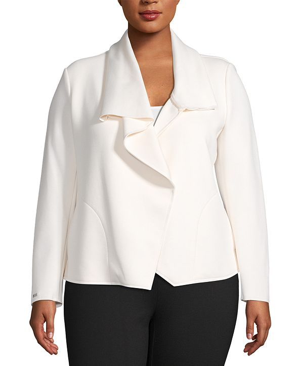 Anne Klein Plus Size Asymmetric Jacket