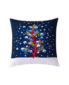 "Christmas Tree Decorative Pillow, 20"" x 20"""