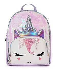 Toddler, Little and Big Kids Queen Miss Gwen Unicorn Sequins Mini Backpack
