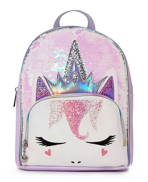 OMG! Accessories Toddler, Little and Big Kids Queen Miss Gwen Unicorn Sequins Mini Backpack