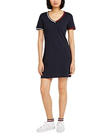Dot-Print T-Shirt Dress
