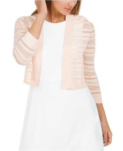 Calvin Klein Shadow-Stripe Shrug Cardigan