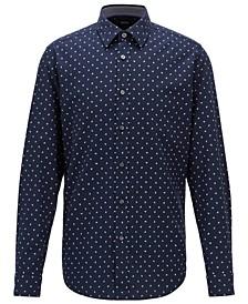 BOSS Men's Lukas_53 Dark Blue Shirt