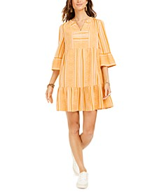 Cotton Printed Ruffled-Hem Dress, Created for Macy's