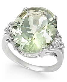 Mint Quartz (9-1/4 ct. t.w.) & White Topaz (1/4 ct. t.w.) Statement Ring in Sterling Silver