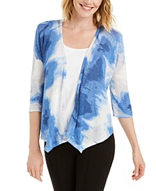 Draped Printed Cardigan, Created for Macy's