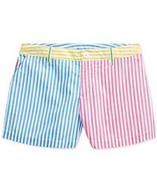 Big Girls Striped Cotton Poplin Shorts
