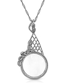 """Gold Tone Filigree Magnifying Glass 28"""" Necklace"""