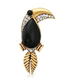 Enamel Crystal Toucan Brooch Pin