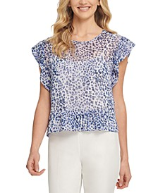 Printed Ruffled Top