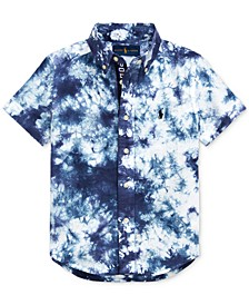 Toddler Boys Tie-Dye Cotton Poplin Shirt